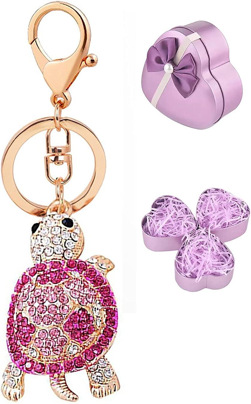 Cute animal pendant Keychain With Rhinestone Keyring For Bags Keys Purse