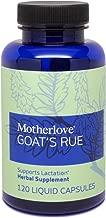 Motherlove - Goat's Rue, Potent Herbal Breastfeeding Supplement, Supports Mammary Tissue Development & Breast Milk Supply, Alcohol-Free Vegan Liquid Capsules with Organic Goat's Rue Herb, 120 ct.