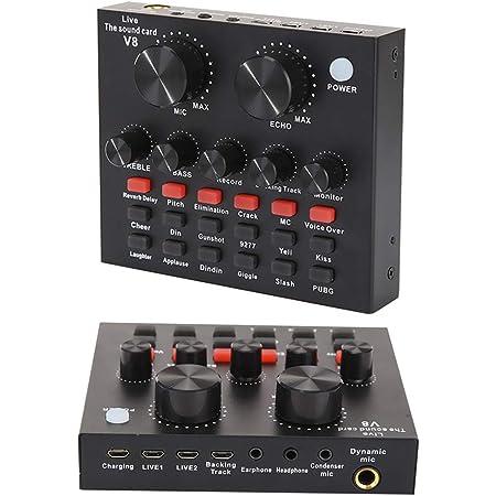 Audio Adapter Sound Board Professional Digital Mixer Live Sound ...
