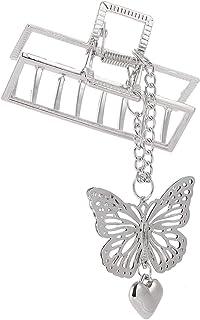 COSYOO Women Alloy Hair Claw Clip Hollow Hair Grip Hair Jaw Clip Hair Jaw Clamp with Butterfly Pendant