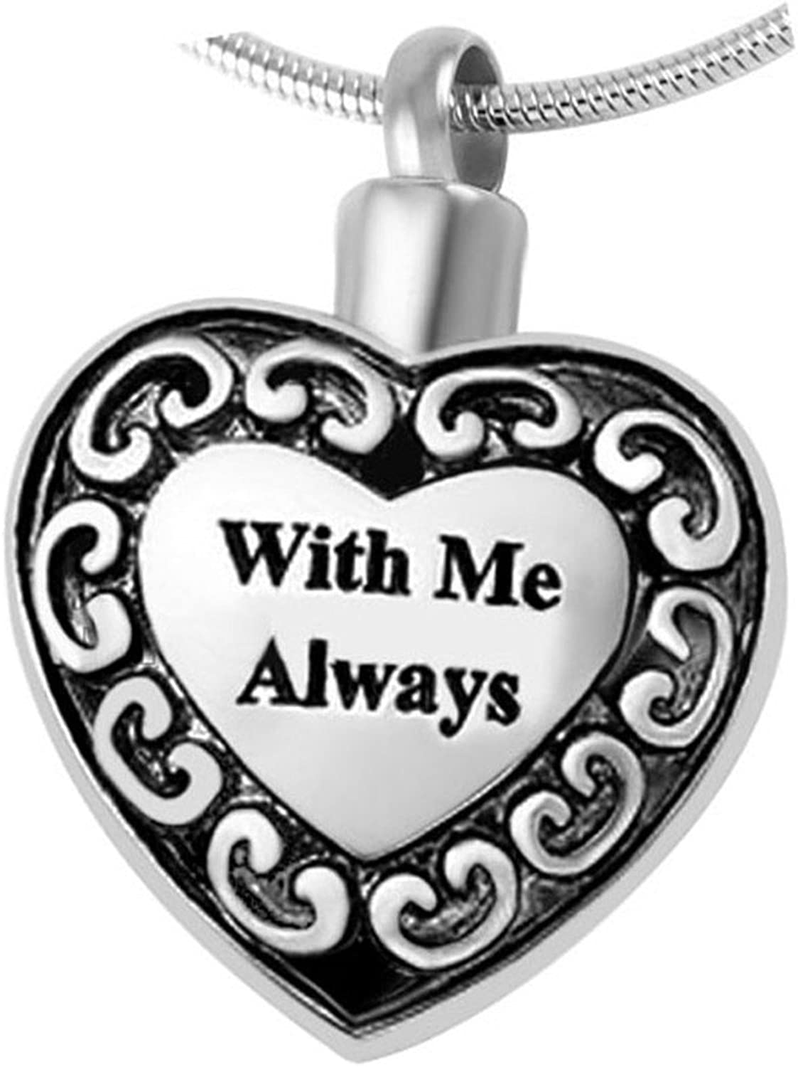 Pet Memorial Jewelry Urn Pendant  Choose from 6 Styles  Keepsake Paw Print Series Pet Memorial Cremation Jewelry Dog, Cat, Animal Ashes (Me Always)
