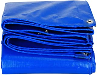 Heavy Duty Tarp, Waterproof Poly Large Covering for Outdoor Trailer, Firewood, Tarpaulin Canopy Tent, Boat, RV or Pool Cov...