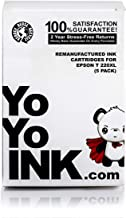 YoYoInk Remanufactured Ink Cartridges Replacement for Epson T220XL 220 XL (2 Black, 1 Cyan, 1 Magenta, 1 Yellow, 5-Pack)
