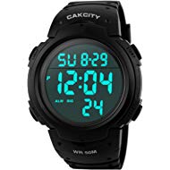 Men's Digital Sports Watch LED Screen Large Face Military Watches and Waterproof Casual Luminous...