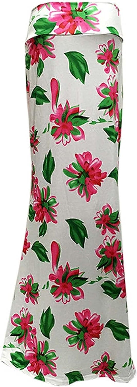 Ladies Printed Slim Hem Skirt High Waist Skirt Fashion Casual Long Skirt