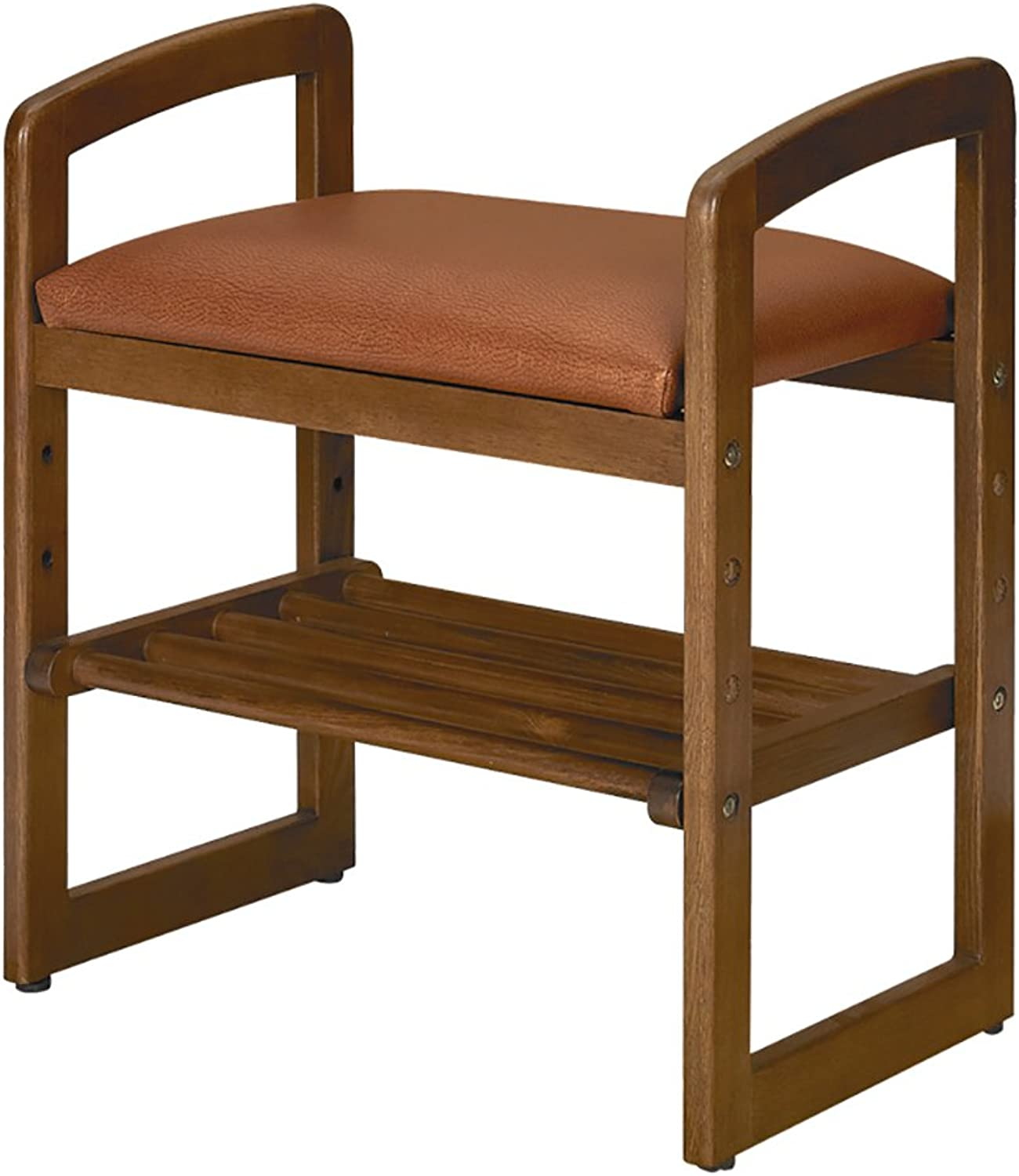 CAOYUSmall stool Solid wood shoes bench, multi-function double shoe rack living room small seat stool simple storage stool storage stool