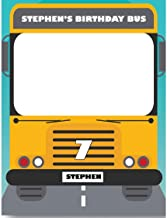 Magic School Bus Birthday Photo Booth Prop sizes 36x24, 48x36; Personalized School Supplies, Selfie frame, School Party, Yellow School Bus, Selfie props, Handmade Party Supplies Birthday Decorations