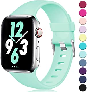 Laffav Compatible with Apple Watch Band 40mm 38mm 44mm 42mm for Women/Men, Soft Sport Bands Replacement Strap Accessory fo...