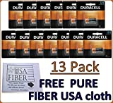 Duracell Dl123 Ultra Lithium Photo, 13 Batteries - Exp 2027+ Free Pure Fiber USA...
