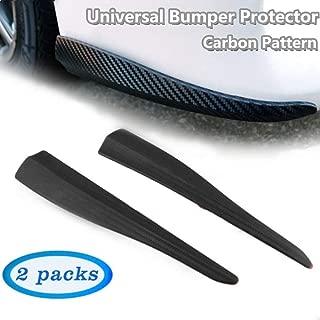 "1.3/"" w Black w// White Trim EZ Fit Bumper Lip Splitter Chin Protector For Benz"