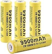 18650 Batterij 3.7V 9900 MAH Oplaadbare Lithium ion Batterij voor Zaklamp Koplamp Batterij Puntige batterij-2 STKS