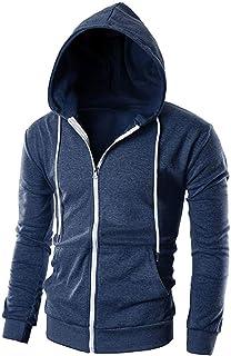 Men's Hooded Jacket Hoodie Sweatshirt Uni Full Zip with Pocket Feast Clothing Sport Fitness Training Sweat Jacket Casual B...
