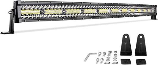 LED Light Bar 50'' Curved 720W Triple Row DWVO 45000LM Upgrade Chipset Led Work Light for Off Road Driving Fog Lamp Marine Boating IP68 WATERPROOF Spot & Flood Combo Beam Light Bars, 2 Year Warranty