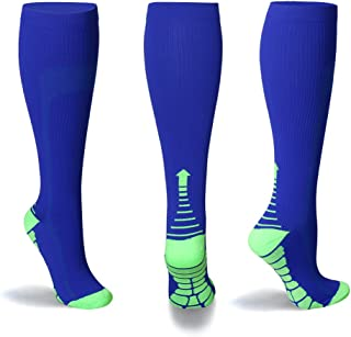 NEXT LOOK Compression Running Socks 20-25mmHg for Men & Women– 1 to 6 Pairs Compression Stockings Best Athletic & Medical, Running, Travel, Varicose Veins