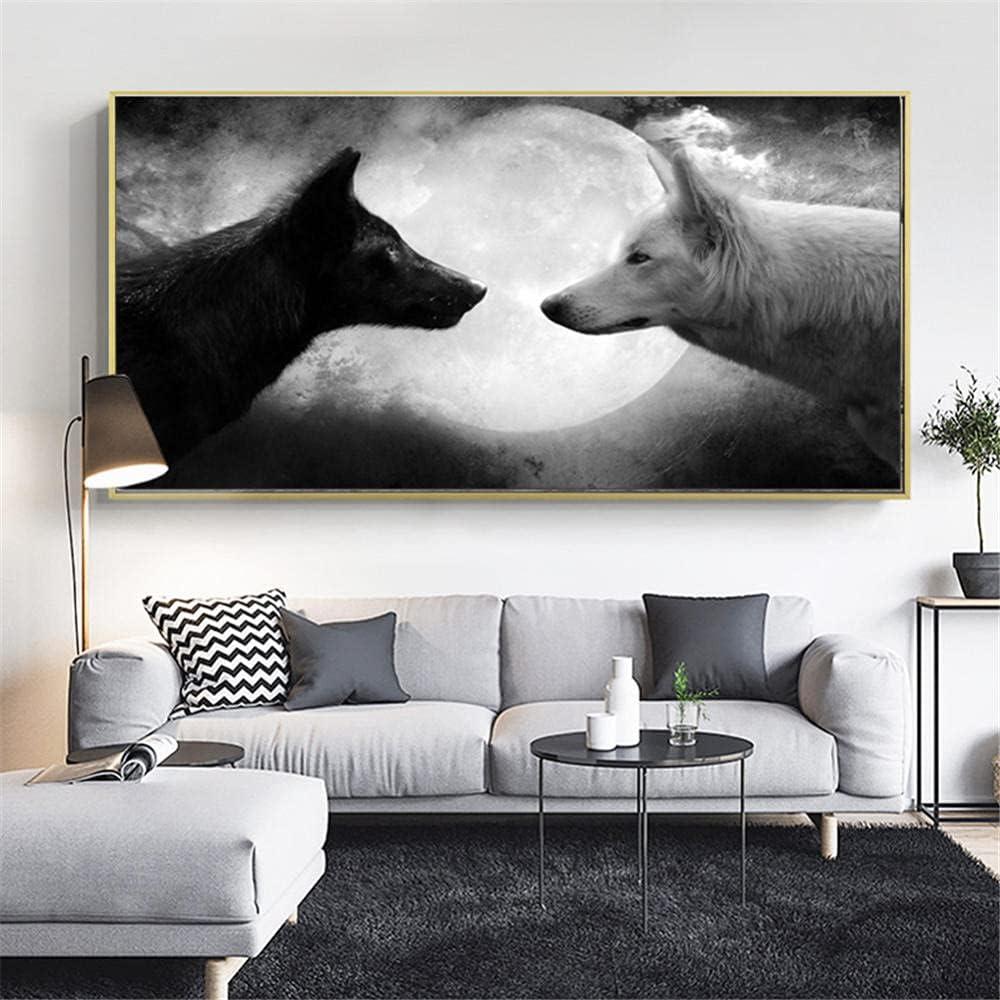 Diamond sale Painting Black White Wolf La Popular overseas Art Adults Kits for