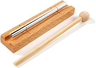 Zenergy Chime Solo, CUSTEAM Eastern Musically Tuned Energy Chime Percussion Instrument with Mallet for Meditation, Teachers' Classroom Management, Yoga and Sound Therapy (SINGLE TONE)