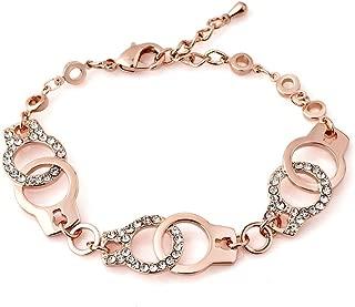 Evil Eye Bracelets Hamsa Hand Bracelet Shiny Crystal Ideal Gift for Women Men Girl Birthday Mother's Day