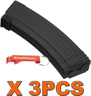 3PCS X AK 140rds Metal Mid-Cap Magazine for Airsoft Marui AK74 AK47 AK series AEG [For Airsoft Only]