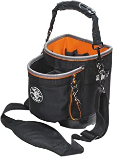 Tool Bag with Shoulder Strap Has 14 Pockets for Tool Storage, Can Fit Long Screwdrivers..