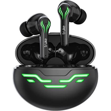 truke Buds BTG 2 True Wireless Earbuds with Environmental Noise Cancellation(ENC) for Clear Calls | Gaming Core Chipset | 48hrs Playtime | Modern Tribal Design| 60ms Low Latency | Bluetooth 5.1 | IPX4