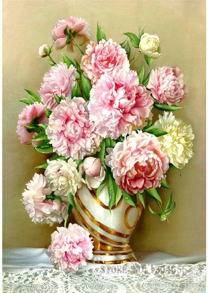 Counted Cross Stitch Kits Peony for Be Starter Adult Max 49% OFF High order Flower