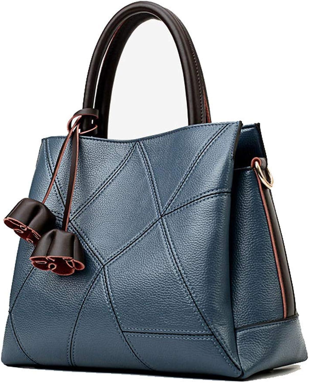 Huasen Evening Bag Women's Shoulder Bag, LargeCapacity PU Handbag, for Business and Leisure Party Handbag (color   bluee)
