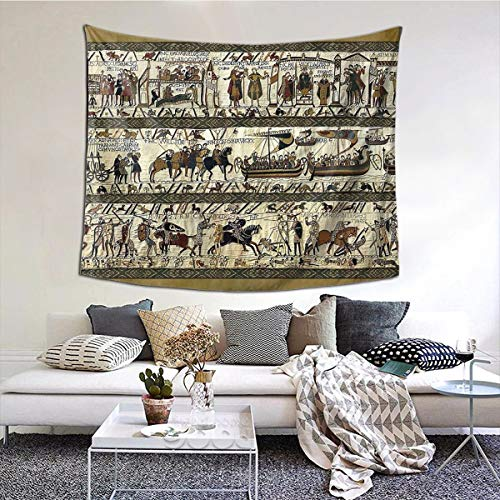 Gbxiat Bayeux Tapestry Boutique Tapisserie Wandbehang Tapisserie Vintage Tapisserie Wandteppich Micro Fiber Peach Home Decor 60X51 In