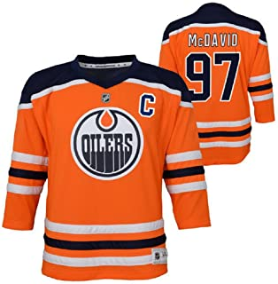 Connor McDavid Edmonton Oilers NHL Youth Orange Replica Player Jersey