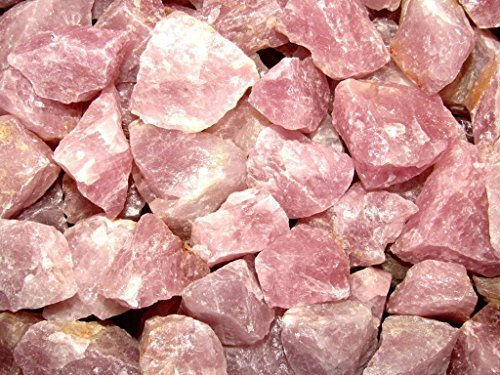 """Zentron Crystal Collection Rough Rose Quartz Large 1"""" Pieces (1/2 Pound)"""