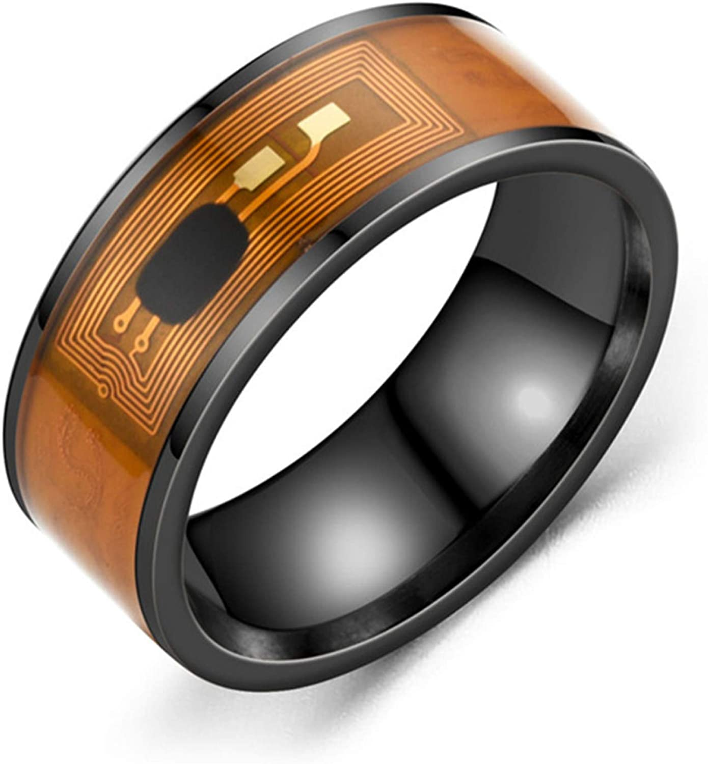 Tennessee526 NFC Stainless Steel Phone Chip Dripping Oil Dual Dragon Pattern Smart Ring Gift
