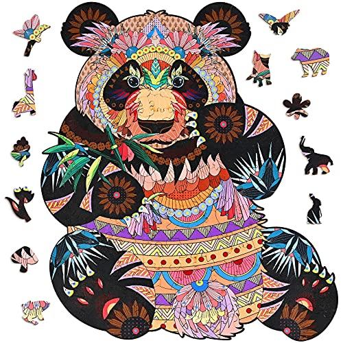 GOLDGE Puzzle in Legno di Animali, A4 Puzzle di Forma Unica (200 Pezzi), Puzzle Animali Colorati 3D per Adulti e Bambini, Miglior Regalo per Puzzle di Decorazione Domestica