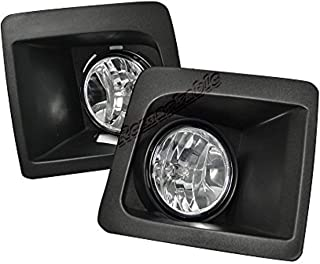 RP Remarkable Power, FL7086 Fit For 2014 2015 2016 Sierra 1500 Fog Lights Clear Lens Bumper Lamps Set NEW