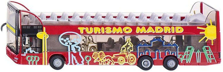 Siku – 188501100 – Modell, ohne Batterien – Tourismusbus – Barcelona Man – Mastab 1 87 – Metall