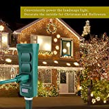 Photo #3: Ovil Technology Green Weatherproof Outdoor Power Strip With Long Cord