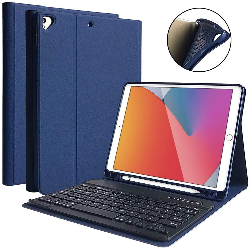 Detachable Wireless Bluetooth Keyboard with Pencil Holder for iPad ...