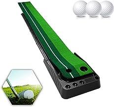 Golf Putting Green with Ball Return Golf Putting Mat 3M Portable Golf Practice Mat Golf Training Equipment for Home Office...