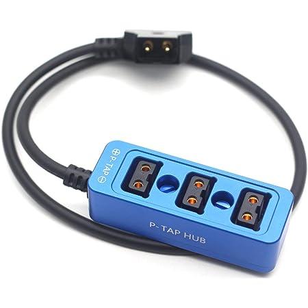 SZRMCC D-tap Cable divisor de alimentaci/ón en espiral macho a 4 puertos D-tap hembra para c/ámaras ARRI RED Monitor de alimentaci/ón cable en espiral
