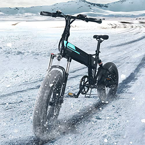 FIIDO M1 Pro Klapprad E Bike Herren Damen, Elektrofahrrad 20 Zoll Pedelec Fatbike, 500W Shimano 7-Gang Mountainbike Citybike, 48V 12.8Ah, 50km/h【EU-Inventar】