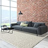 iCustomRug Cozy and Super Soft Plush Solid Shag Rug Ideal to Enhance Your Living Room and Bedroom Decor in 16 Colors / 20 Custom Sizes 8' X 10' Off White