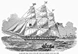 Packet Ship 1850 Nthe American Black Ball LineS Packet Isaac Webb Built 1850 For Scheduled Mail And Passenger Service Betweeen New York And Liverpool England Leaving New York Harbor Contemporary Wood