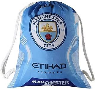 Manchester city Soccer Drawstring Bag Gym Sack Trainer Cinch Bag Shoulder Strap Backpack