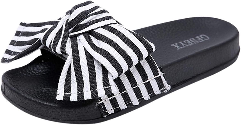 Joyhul 2019 Women Slipper Summer Bow Knot Slipper Fashion Casual Home Slippers Beach shoes women DA,Black,35,United States