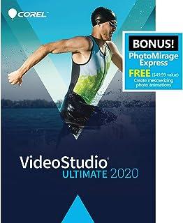 Corel VideoStudio Ultimate 2020 - Video & Movie Editing Software - Slideshow Maker, Screen Recorder, DVD Burner - Premium Effects from NewBlueFX, Boris FX, ProDAD - Free PhotoMirage Express [PC Download]
