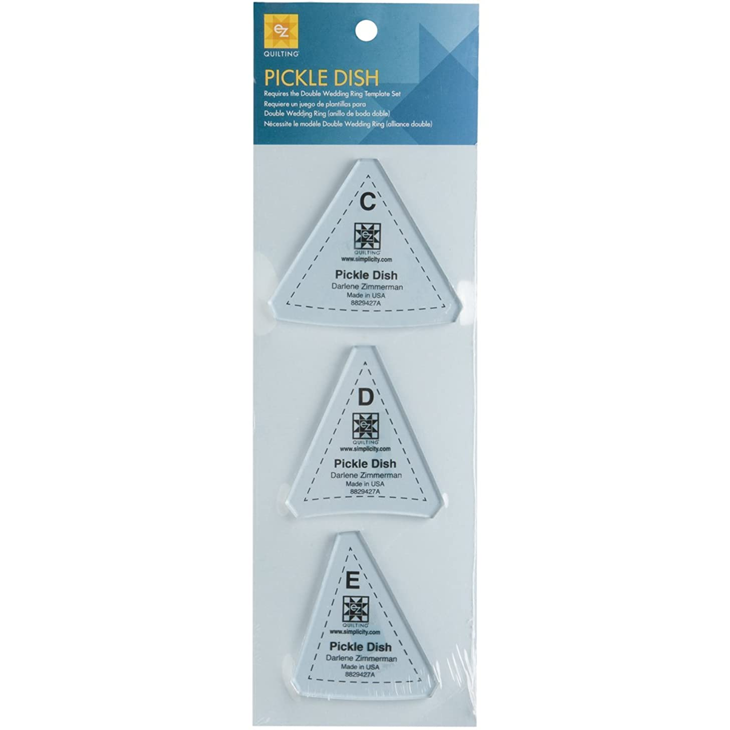 Wrights 8829427A Pickle Dish Template, 3-Pack