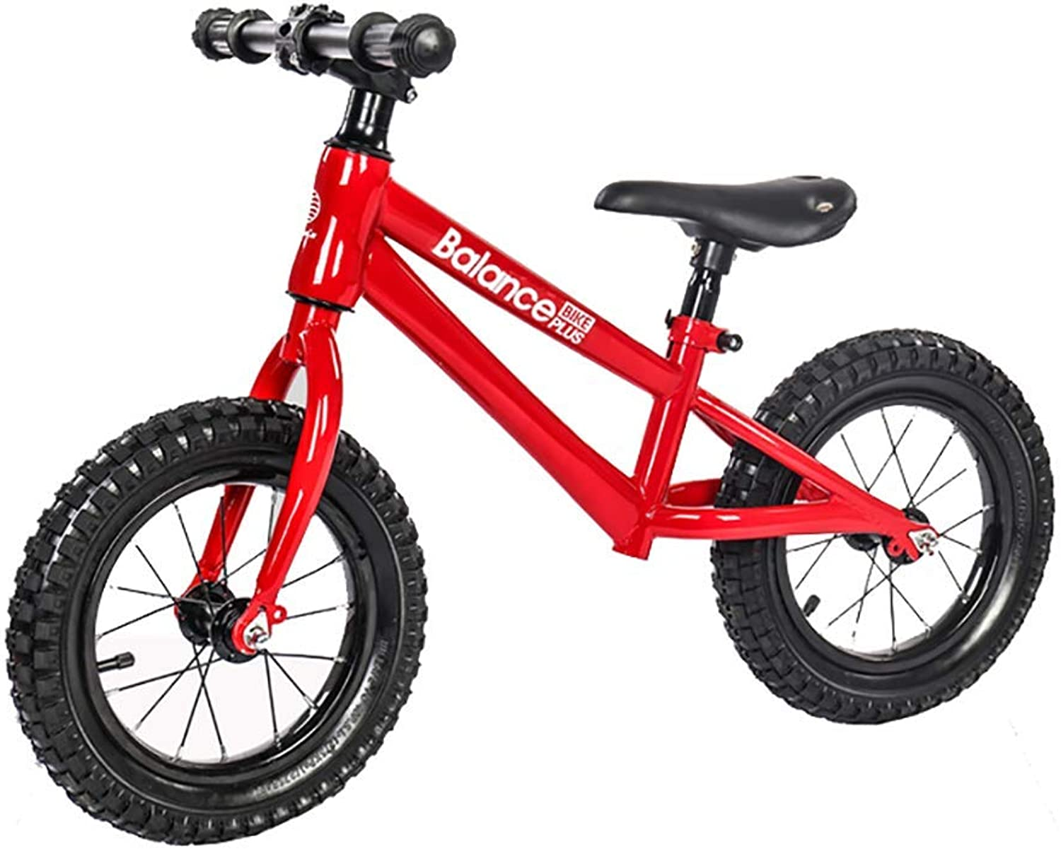 ZNDDB Balance Bike No Pedal With Bell And Hand Brake, Carbon Steel Frame, Adjustable Handlebar, Seat And Stand, 30Kg Capacity
