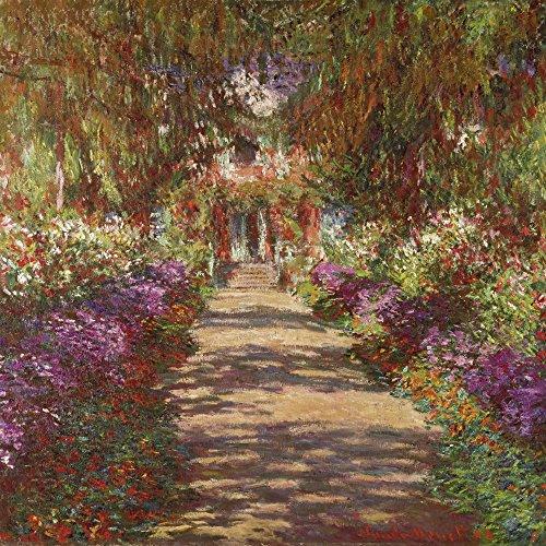 Artland Alte Meister Wandbild Claude Monet Wegn Monets Gartenn Giverny Leinwand Bilder 100 x 100 cm Kunstdruck Gemälde Impressionismus R2LK