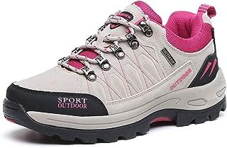 TSIODFO Waterproof Hiking Boots for Men Suede Ankle Boot Outdoor Climbing Trekking Walking Sneakers Winter Hiking Shoes Black Size: 7.5 Women/6 Men