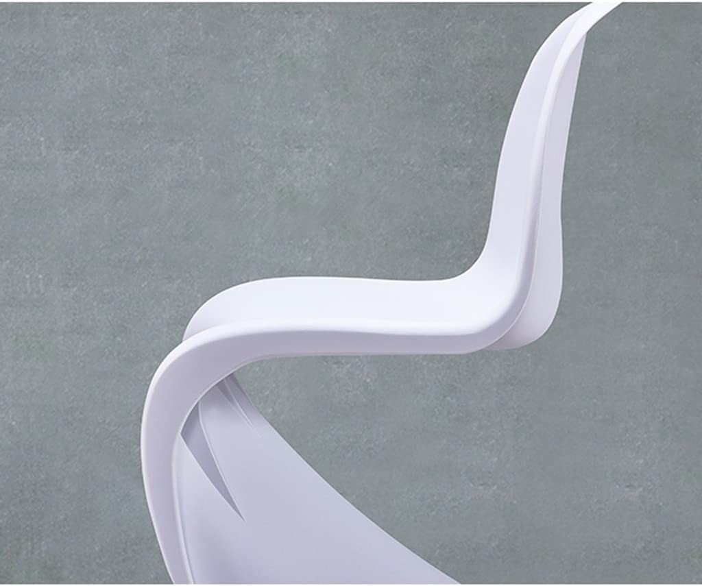 XXT Dossier en Plastique à Manger Chaise Adulte Moderne Chaise Minimaliste Durable (Color : B) E