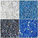 1/4 TILA 40 Grams Sapphire Blue, Miyuki Quarter Tila 2 Hole Bead Kit, 4 Colors of 10 Grams Each. Black Matte AB, Aquamarine Matte AB, Light Sapphire Transparent AB, Crystal Transparent Rainbow AB.