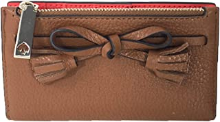 Kate Spade Hayes Leather Small Bi-Fold Wallet, Warm Gingerbread Brown